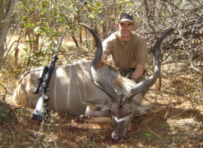 Cliff with Kudu Bull - 30-06