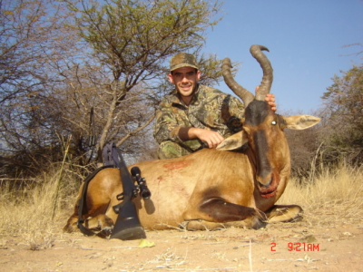 Cliff with Red Hartebeest at Makouvlei - 30-06