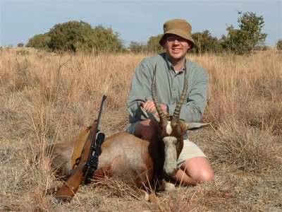 Cobus with Blesbok at Kokanje