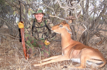 Craig with Impala Ram at Zulani Safaris