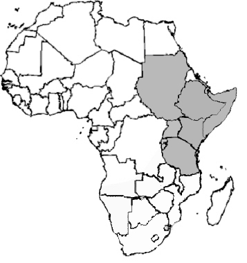 THE SHADED AREAS IS WHERE THE ZEBRAS MOSTLY LIVE IN OR NEAR