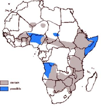 African wild dog habitat maps